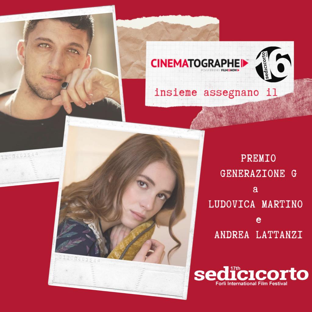 Sedicicorto 2020. The Generation G Award goes to Andrea Lattanzi e Ludovica Martino