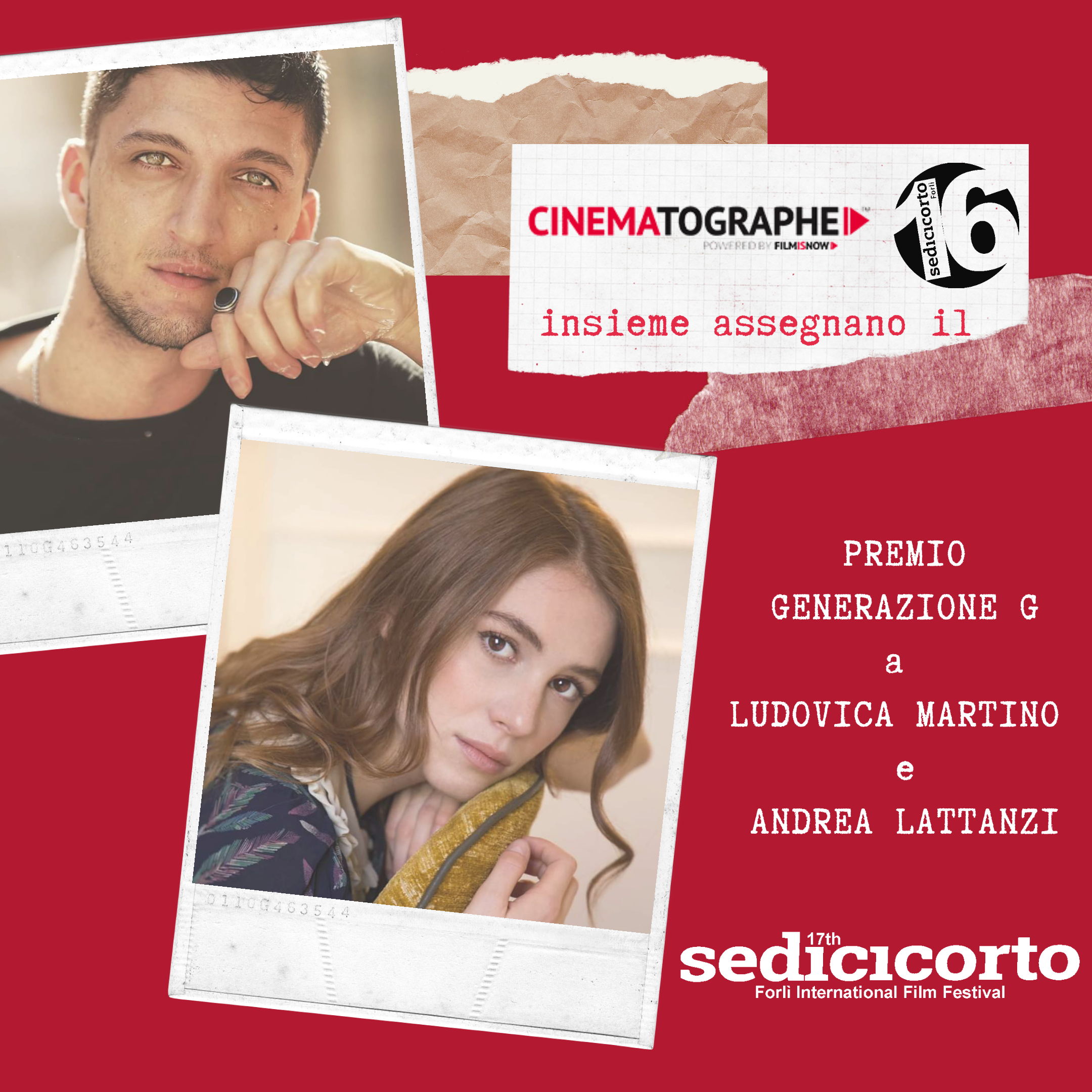 Sedicicorto 2020. The Generation G Award goes to Andrea Lattanzi e Ludovica Martino